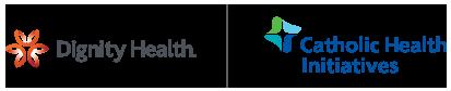 Dignity Health | Catholic Health Initiatives logos